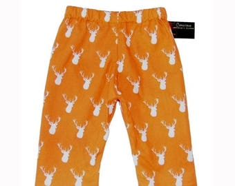 On SALE 65% OFF Deer Baby Clothes - Woodland - Orange Pants - Deer Antler - Baby Pants - Baby Boy Pants - Baby Girl Pants - Nb - 18m - On SA