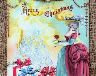 Marie Antoinette Christmas Gift or Scrapbook Tags or Magnet #275