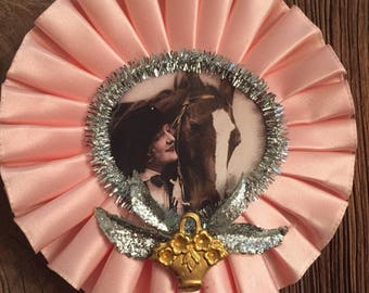 Pink Upcycled Decorative Horse Ribbon