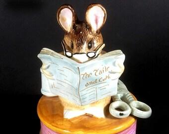 "Vintage Beatrix Potter Music Box by Schmid, ""Tailor of Gloucester"""