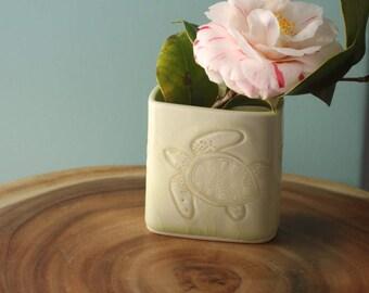 turtle bud vase