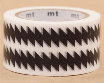 193846 mt Washi Masking Tape deco tape zigzag pattern