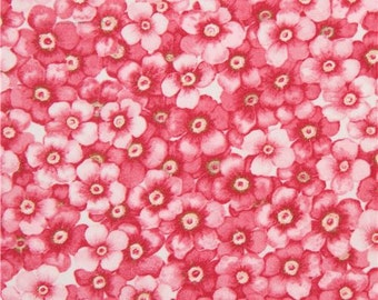 206176 beautiful pink flower fabric Cherry Blossom Love Blank Quilting USA