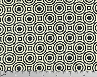 """Heather Bailey PWTC039 Zen Dot Licorice Mod True Colors BTHY Half Yd 18"""" Freespirit Quilting Quilt Sew Sewing Polka Dotted Modern Fabric"""