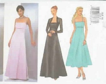 Butterick 6534 Classic Evening Dress Shrug Pattern Size 12-14-16 Misses Miss Petite