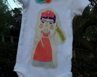 SALE! FRIDA Kahlo Esperanza BABY Girls Embellished Bodysuit Size 3 Months Ready-to-Ship