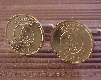 Kuwait Coin Cuff Links