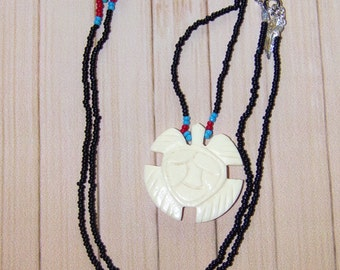 Native American Beaded Turtle Necklace New Gift