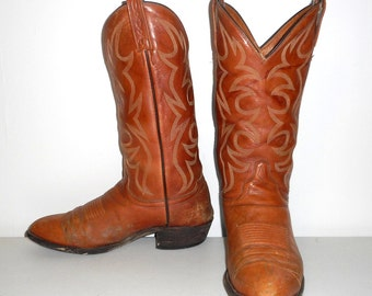 Mens 9.5 D El Dorado Cowboy Boots Vintage Handmade Western Wear Country Shoes