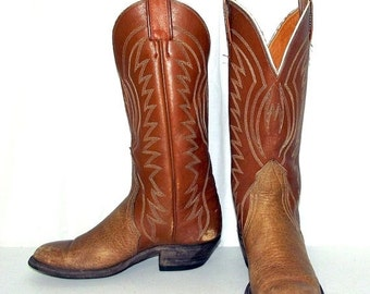 Tan Leather Nocona Brand Cowboy Boots - womens size 5.5 B