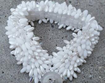 White Caterpillar Bracelet