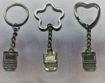 Court reporter stenographer steno machine writer key chain keychain for men or women