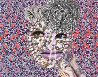 Magic Eye VI / Collage Print /  Illusion / Collage Art (sizes a4 - a3)