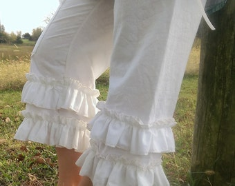 Muslin Bloomers Ruffled Romance with Pocket The Wild Raspberry