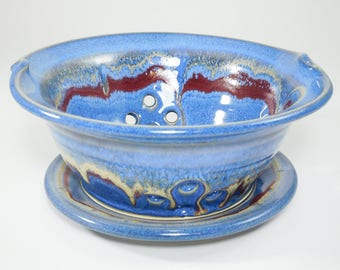 Ceramic Colander - Berry Bowl Colander - Fruit Bowl - Clay Berry Basket - Ceramic Berry Bowl - Pottery Colander - Colander - In Stock