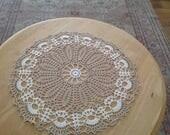 Crochet doily, table center