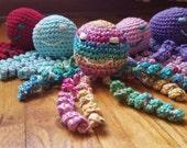 Custom Octopus, FREE DOMESTIC SHIPPING  handmade, crochet, baby shower gift, photo prop, Preemie Octopus