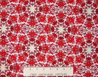 Christmas Splendor Fabric - Red & White Holiday Geometric - Henry Glass YARD