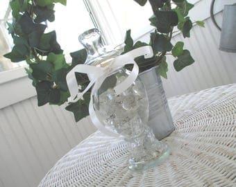 Vintage Apothecary Jar * Pedestal * Candy * Shop Display * Chandelier Prisms