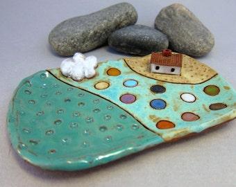 RESERVED for elizabethjones RESERVED...Rustic Little Dish in Terracotta