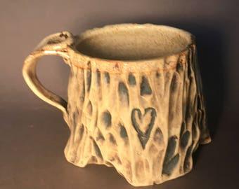 Cream tree mug 2