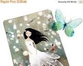 Winter Sale 20% OFF - Blue Field Memories - Postcard