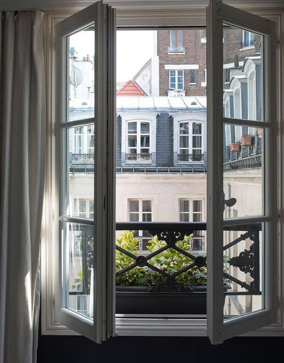 Paris Photography, Paris Apartment in The Marais, April in Paris, Spring in Paris, Parisian Rooftops, Francophile, French Gallery Wall Art