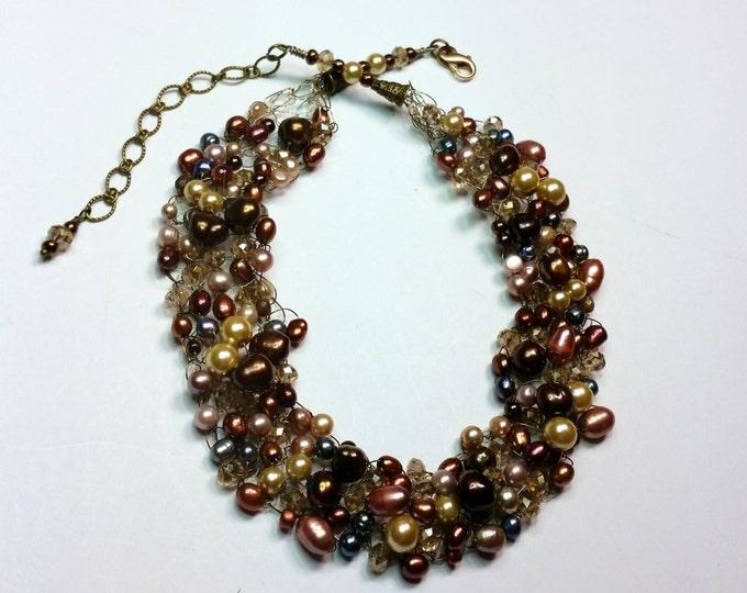 Sienna Rainbow Wire Crocheted Necklace Set