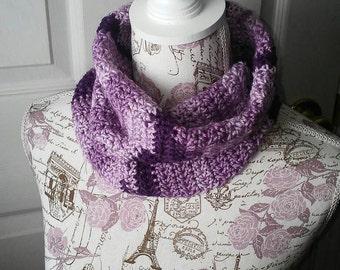 Neck Warmer Cowl in Purple Crochet