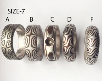 Mokume Gane Rings- size 7 and 8