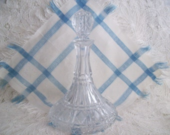 Vintage Pressed Glass Decanter with stopper