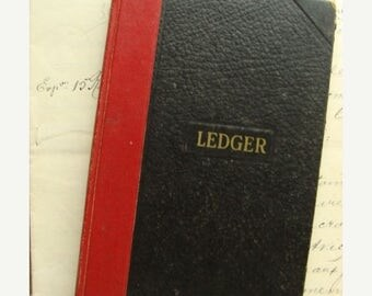 ONSALE Antique 1952 Amazing Diary Journal Ledger Book Very Interesting Times