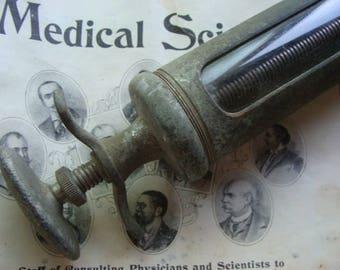 Rare Antique Huge Medical German Hypodermic Syringe