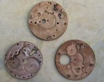 Vintage pocket Watch movement parts - Pocket watch plates Steampunk - Scrapbooking p12