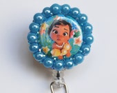 Special Order For Leilani Disney Baby Moana ID Badge Reel - Retractable ID Badge Holder - Zipperedheart