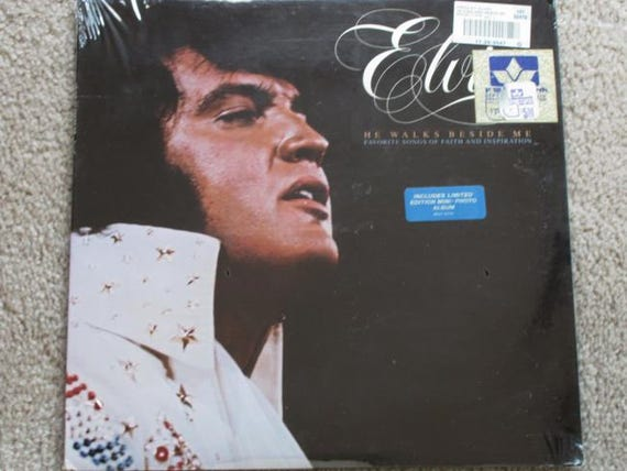 1978 Elvis Presley vinyl LP record gospel He Walks Beside Me RCA AFL1-2772 mint sealed original price tags / Limited Edition Photo Album