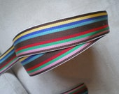 "50 Yard Roll of Striped Acetate Vintage Ribbon 7/8"" wide"
