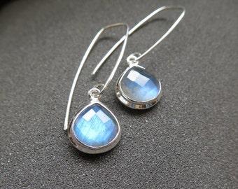labradorite earrings. sterling silver jewelry. gemstone jewellery