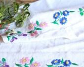 D 97: handloomed linen antique charming TOWEL napkin, LAUNDERED,리넨, decoration; tablerunner