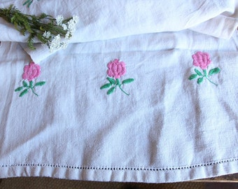D 49: handloomed linen antique charming TOWEL napkin, LAUNDERED,리넨, decoration; tablerunner