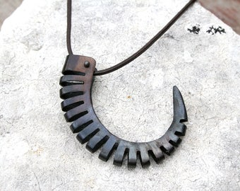Hand Forged Iron Necklace, Blacksmith Made Necklace, Steampunk Necklace, Claw Necklace, Iron Jewelry