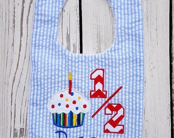 Half Birthday Bib