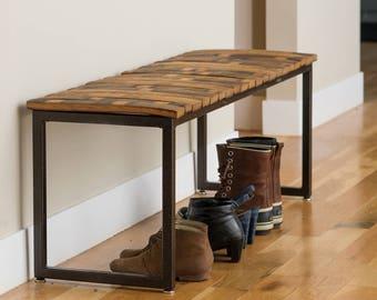 Modern Wine Stave Bench