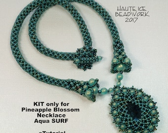 KIT ONLY for Pineapple Blossom Necklace in Aqua SURF Colorway