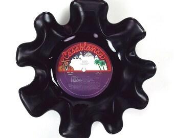 Kiss Vinyl Record Bowl Vintage LP Album 1975 (Alive) Colorful Casablanca Label