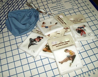 """17"""" Printed Hankies gift pack - Cotton hand made muslin Multi-Pack - Pinup or Celtic"""
