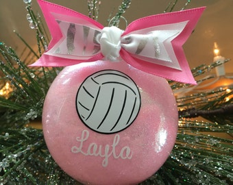 Personalized Volleyball Christmas Ornament - Choose Your Colors