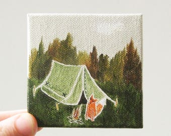 the camping trip / original painting on canvas