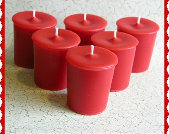SOUR WATERMELON CANDY Scented Votive Candles - Duplication Type* - Tart & Sweet - Gift Boxed Set Of 6 - Maximum Fragranced - Handmade In UsA