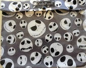 Jack Skellington Disney Clear Pouch 7x9 Organizer First Aid Medications Cosmetics Diaper Bag Ouch Pouch or Personalized Label Gift Under 20
